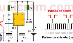 Detector de ausencia de pulso con 555