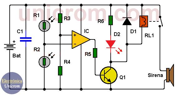 Detector de sombra con dos LDRs
