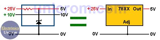 Cómo elevar voltaje de salida en reguladores 78XX? - 7805, 7809, 7812 (1)