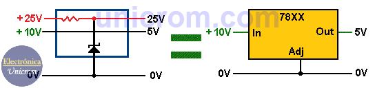 Cómo elevar voltaje de salida en reguladores 78XX? - 7805, 7809, 7812 (2)
