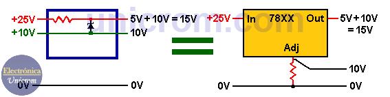Cómo elevar voltaje de salida en reguladores 78XX? - 7805, 7809, 7812 (3)