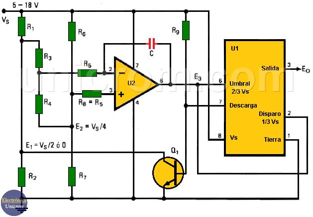 Extender el rango de oscilación del 555