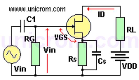 FET con realimentación negativa y condensador de derivación