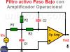 Filtro activo Paso Bajo con Amplificador Operacional