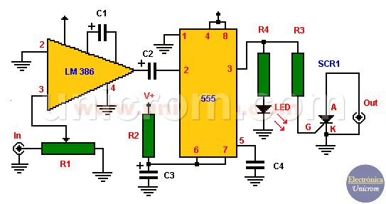 Circuito de Flash activado por sonido