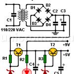 Fuente de voltaje 5 y 9 VDC