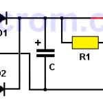 Fuente de 9VDC con zener y transistor