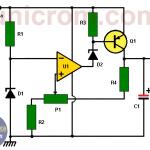 Circuito de fuente de 12 V con 741 y zener