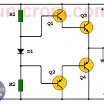 Fuente simétrica de 15 voltios transistorizada (-15V+15V)