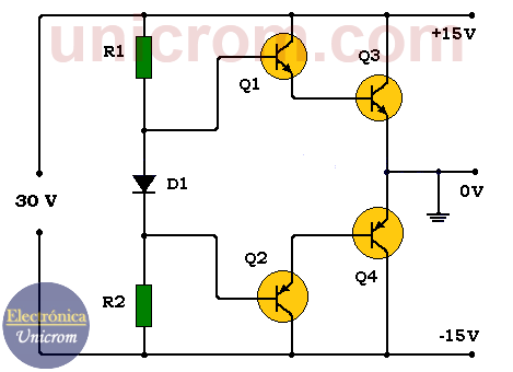 Fuente simétrica de 15 voltios transistorizada (-15V +15V) - Electrónica Unicrom