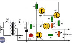 Fuente de voltaje y corriente variables con 2N3055