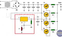 Fuente de voltaje variable de potencia (LM317)