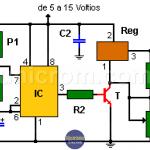 Pulso de alta capacidad de corriente con 555 y LM350