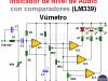 Indicador nivel de audio con LM339 (comparadores)