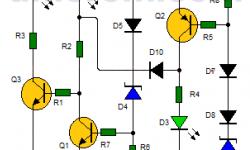 Indicador de voltaje para automóvil (circuito impreso)