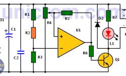 Interruptor crepuscular con amplificador operacional