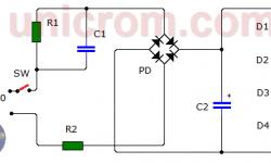 Lámpara de LEDs a 110/220VAC (circuito impreso)