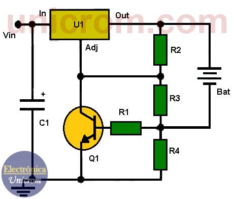 Limitador de corriente con LM317 para cargador de batería de 6V