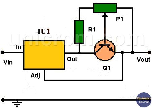 Limitador de corriente con regulador de voltaje LM317