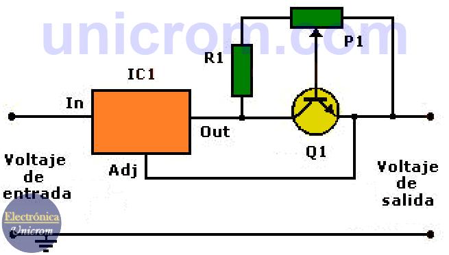 Circuito Regulador De Voltaje : Limitador de corriente para fuentes voltaje