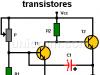 Luz intermitente de baja potencia con dos transistores