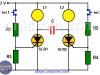 Luz intermitente manual con SCR