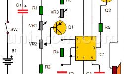 Metrónomo musical electrónico con 555