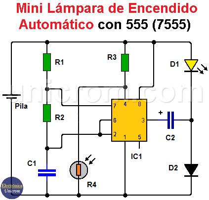 Mini lámpara de encendido automático