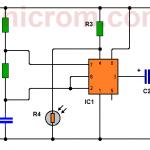 Mini lámpara de encendido automático (555, LED)