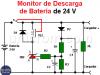 Monitor de descarga de batería (12V y 24V)