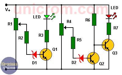 Monitor de batería para el automóvil con transistores