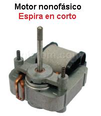 Motor monofásico espira en corto