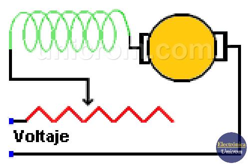 Control de velocidad con reóstato de un motor universal - Electrónica Unicrom