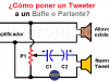 ¿Poner Tweeter a Bafle o Parlante?