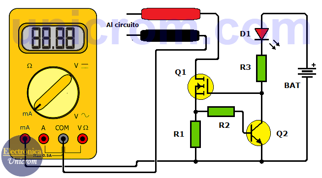 Protector de fusible de multimetro - VOM - Tester - Polímetro