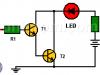 Punta lógica con dos transistores (sonda lógica)
