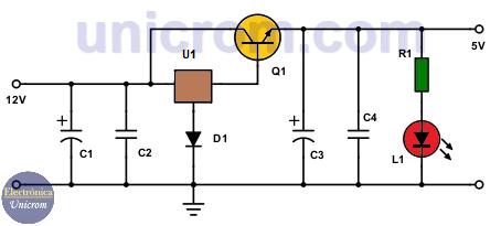 Reductor de 12 a 5 voltios para automóvil