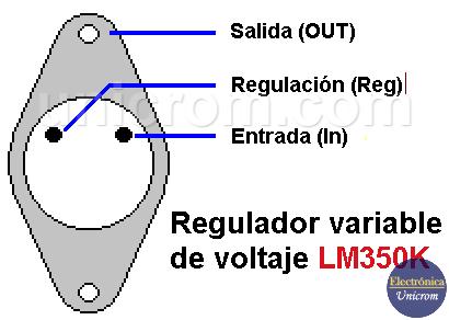 LM350K - Regulador variable de voltaje