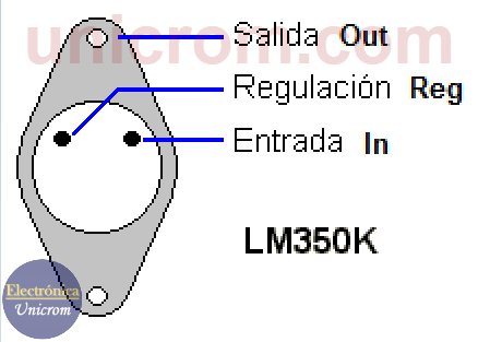 Regulador de voltaje variable LM350K
