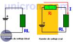 Resistencia interna en fuentes de tensión / voltaje