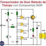 Temporizador de Gran Retardo con CD 4001 (NOR)