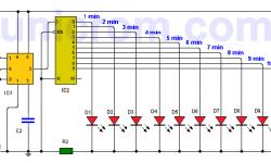 Temporizador de larga duración con 555 y 4017