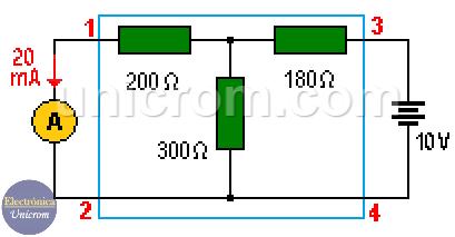 Teorema de reciprocidad (segundo circuito)