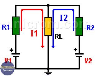Teorema de Superposición - Circuito original