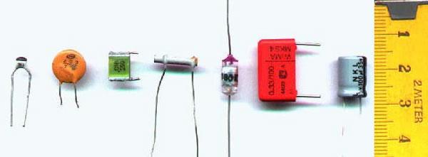 Clasificación, tipos de condensadores / capacitores