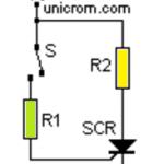 Tiristor (SCR) en corriente contínua