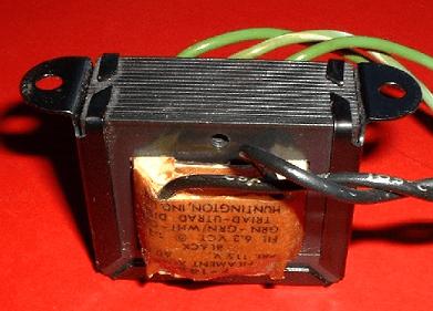 Transformador eléctrico (núcleo y bobinados)