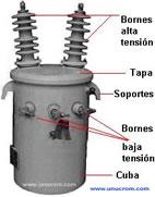 Transformador eléctrico convencional de distribución - Electrónica Unicrom