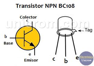 Transistor NPN BC108